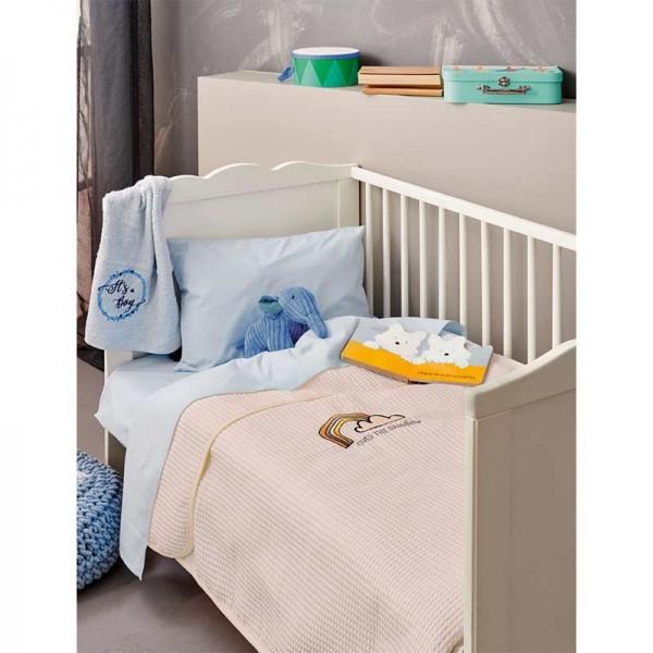 Κουβέρτα μωρού Μπεζ Πικέ Bebe Blankets PIKELINO