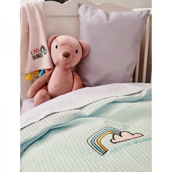 Κουβέρτα μωρού Πράσινο Μέντα Πικέ Bebe Blankets PIKELINO