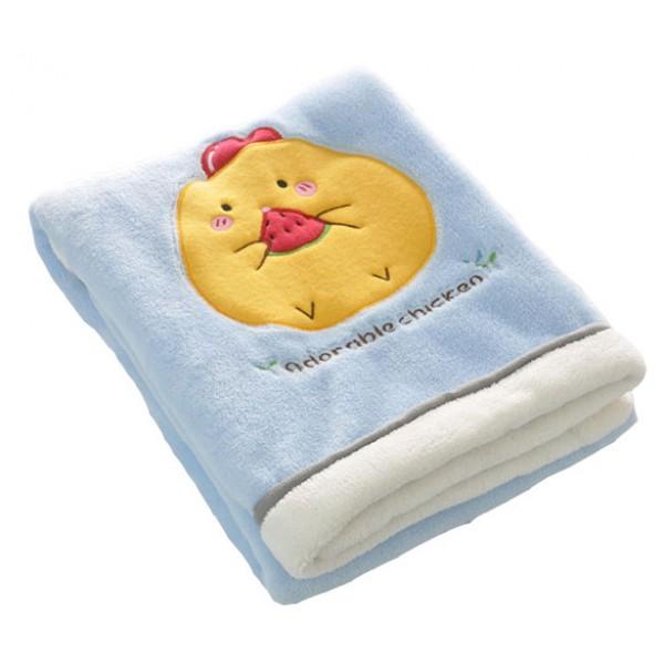 Βρεφική κουβέρτα κοτοπουλάκι γαλάζιο