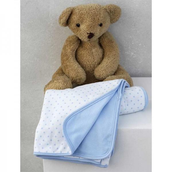 Κουβέρτα Διπλής Όψης Γαλάζια New Baby 75x100cm