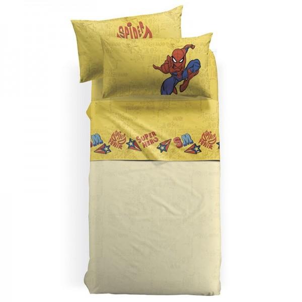 Σετ Σεντόνια Disney Κίτρινο 160x270 SPIDERMAN HERO