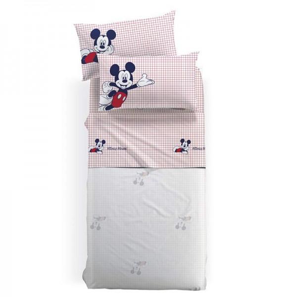 Σετ Σεντόνια Disney Κόκκκινο 160x270 MICKEY MOUSE