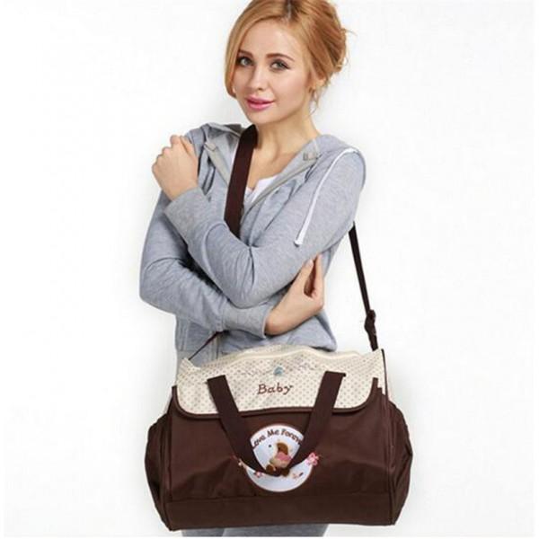 Τσάντα ώμου Καφέ-μπέζ (Baby)