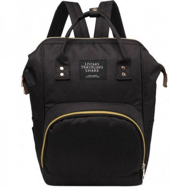 Τσάντα μωρού πλάτης μαύρη L.T.S.