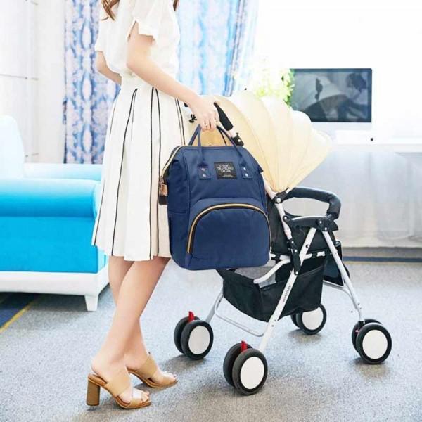 Τσάντα μωρού πλάτης μπλέ L.T.S.