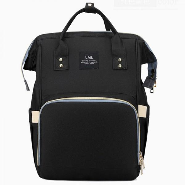 Τσάντα μωρού πλάτης μαύρη LML