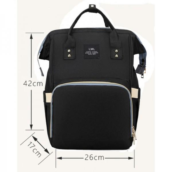Τσάντα μωρού πλάτης μαύρη L.T.S