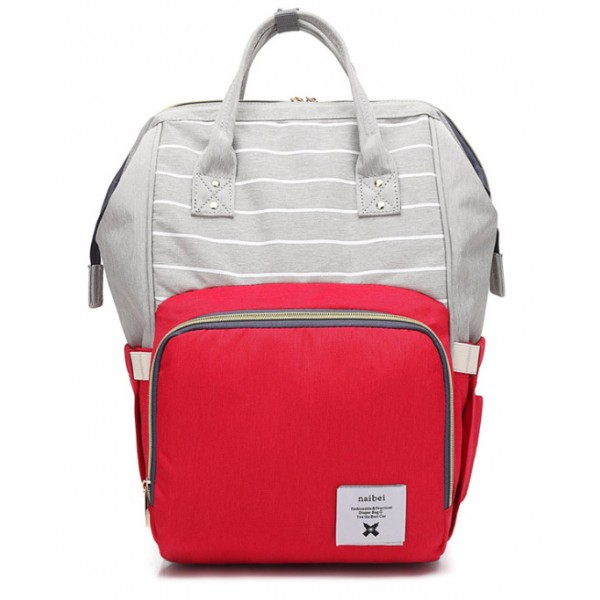Τσάντα μωρού πλάτης γκρι - κόκκινο