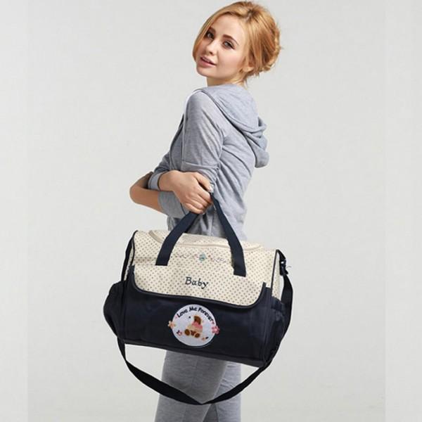 Τσάντα ώμου Μπλέ-μπέζ (Baby)